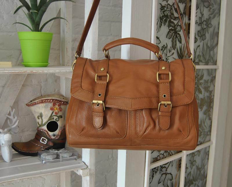 Кожаная сумка портфель сумка ollie&nic /шкіряна сумка