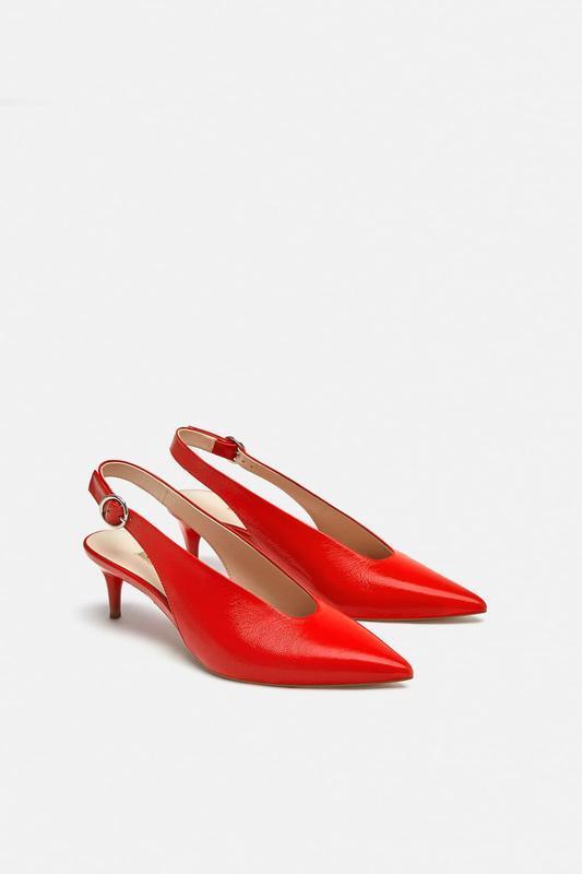 Туфли из натуральной кожи zara