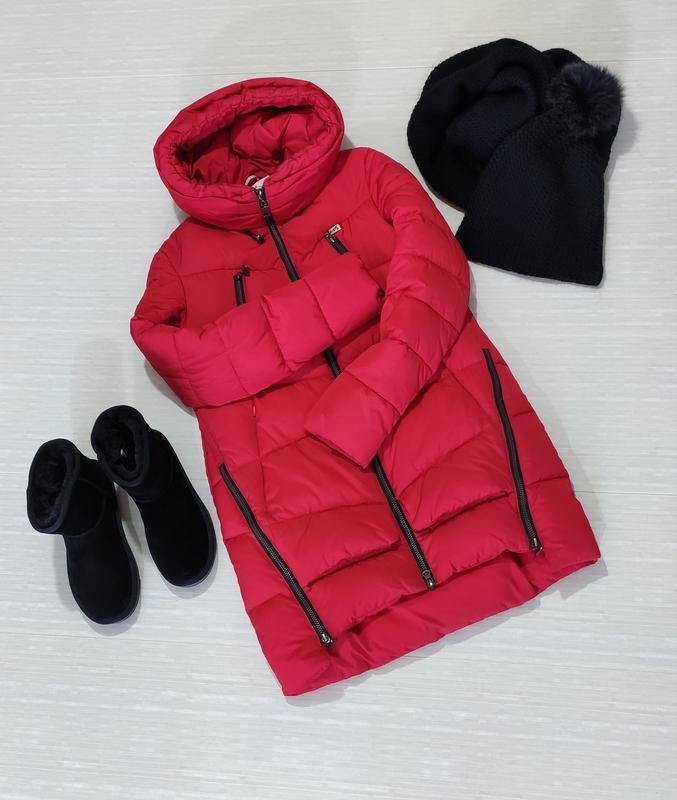Теплая, зимняя куртка парка пуховик