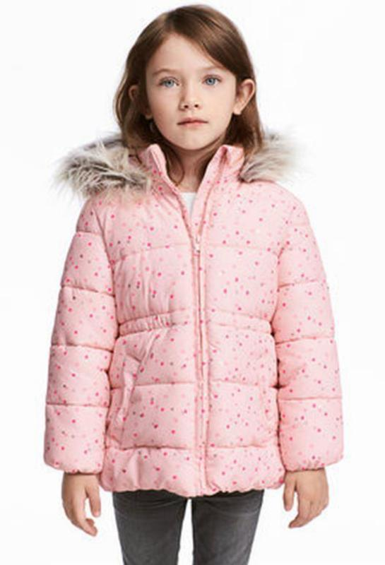 Зимняя куртка на девочку рост 92 h&m