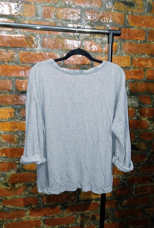 Пуловер джемпер свитер в полоску свободного кроя gap