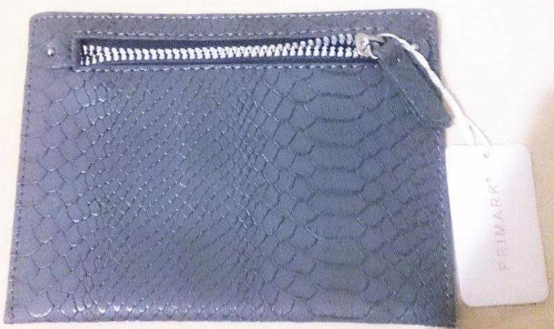 Сірий гаманецьprimark новий бірки еко шкіра на замочок