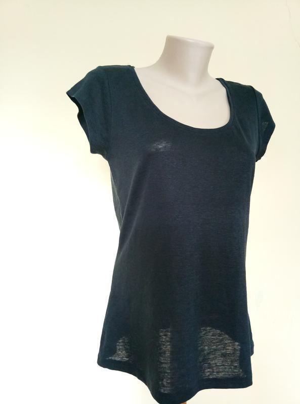 Брендовая трикотажная блуза футболка лен