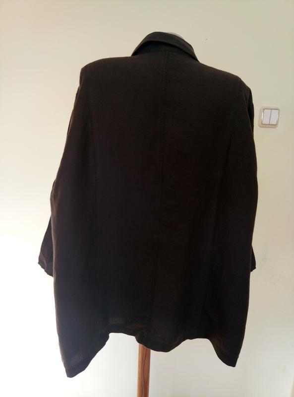 Шикарный легкий немецкий блузон лен 72 размер - Фото 4