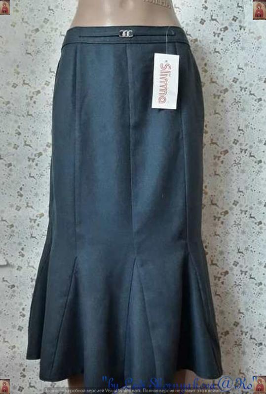 """Новая с биркой юбка-миди с оригинальным низом, ткань """"ёлочка"""",..."""