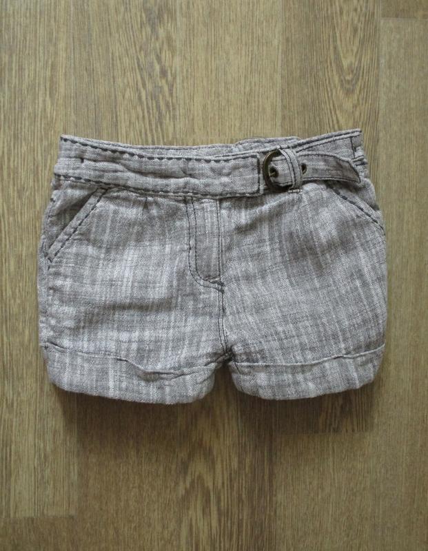 Льнаные шорты с ремешком