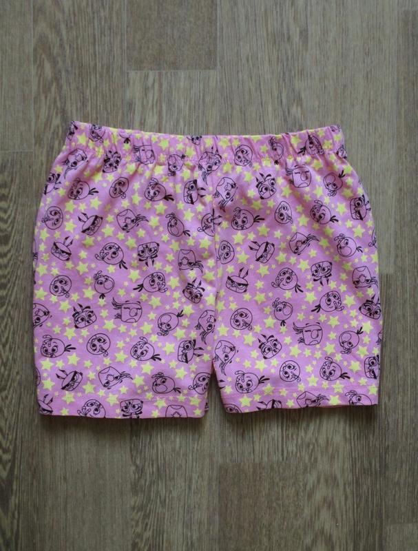 Розовые шорты энгри бердз