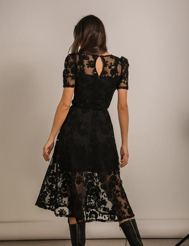 Кружевное нарядное платье сукня з мереживом - Фото 3