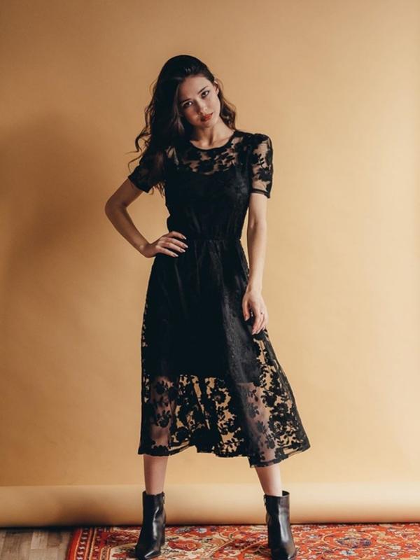 Кружевное нарядное платье сукня з мереживом - Фото 4