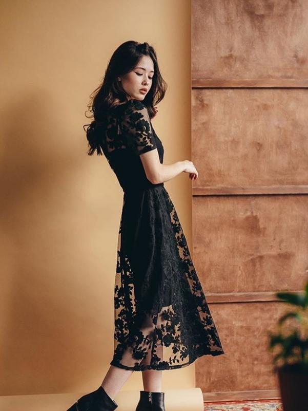 Кружевное нарядное платье сукня з мереживом - Фото 8