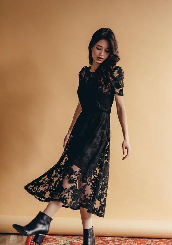 Кружевное нарядное платье сукня з мереживом - Фото 9