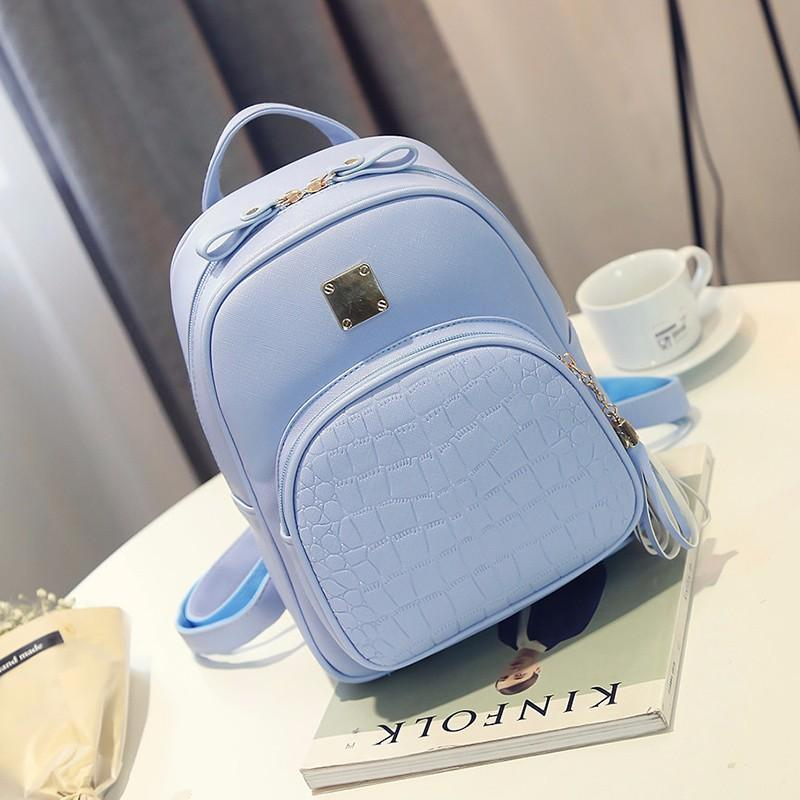 Рюкзак женский голубой для девушки, девочки городской стильный