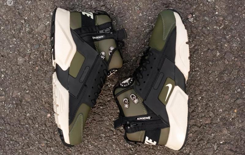 Nike air huarache winter acronym green