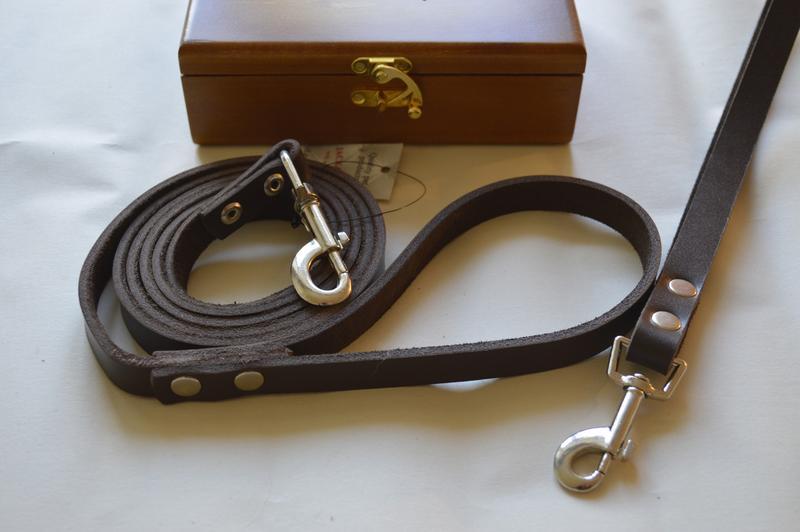 Поводок для собак  1.90 м *16 мм + водилка в деревянной коробке - Фото 4