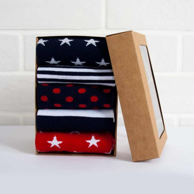 Набор ярких носочков, the pair of socks, из 5 пар star box