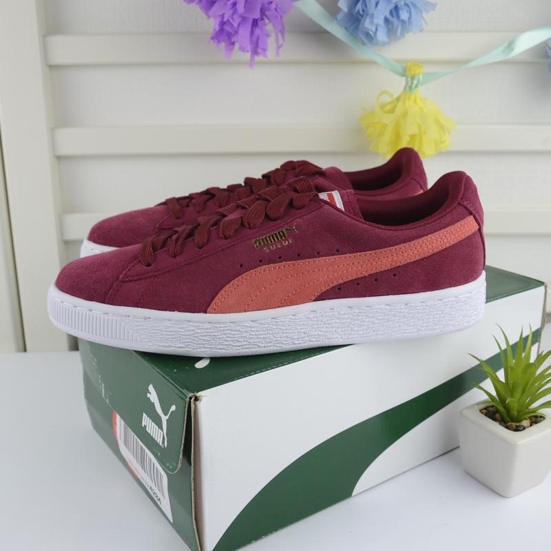 Puma suede classic tibetan red/hot coral кроссовки замшевые ор...