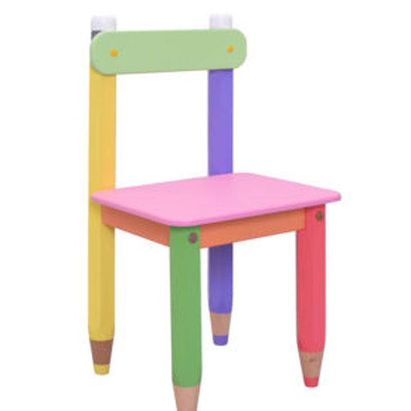 Детский стульчик Карандашики. Цвет: салатовый,оранжевый, розовый - Фото 2