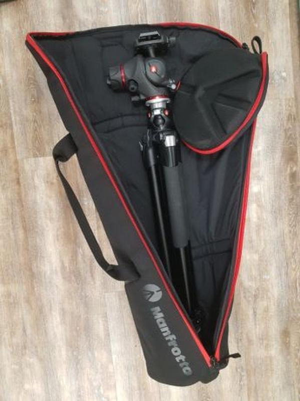Штатив Manfrotto 055XPROB, фото/видео голова MH055M8, сумка MB... - Фото 8