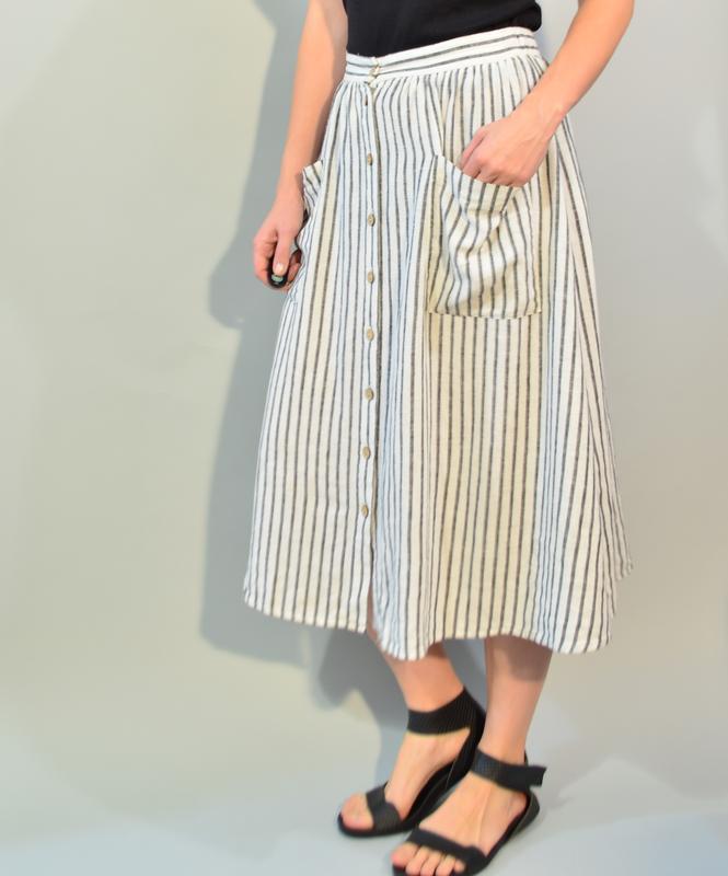 3056\70 юбка на пуговицах из льна new look l