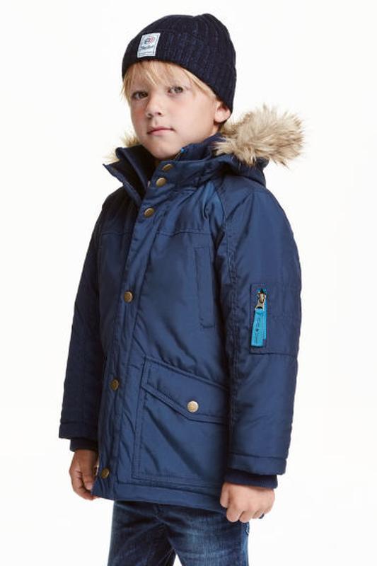 Зимняя удлиненная термокуртка h&m америка