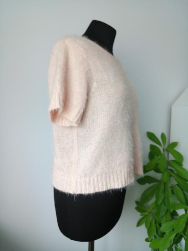 Пушистая теплая блузка жилетка футболка кроп от f&f - Фото 3