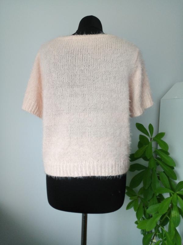 Пушистая теплая блузка жилетка футболка кроп от f&f - Фото 4