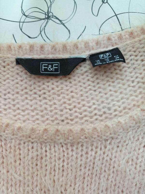 Пушистая теплая блузка жилетка футболка кроп от f&f - Фото 5