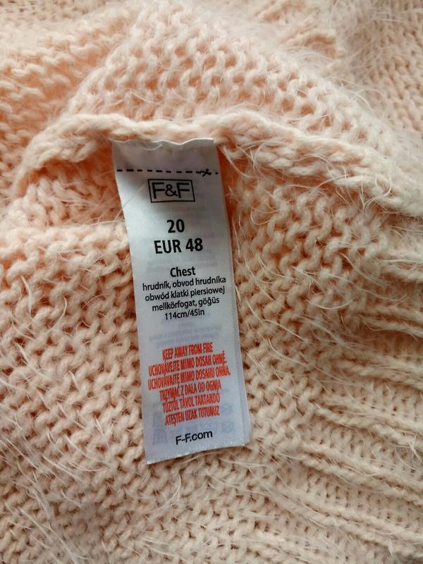 Пушистая теплая блузка жилетка футболка кроп от f&f - Фото 6
