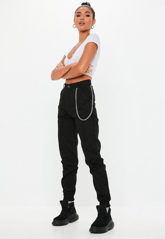 👑♥️final sale 2019 ♥️👑  стильные черные брюки карго с карманам...