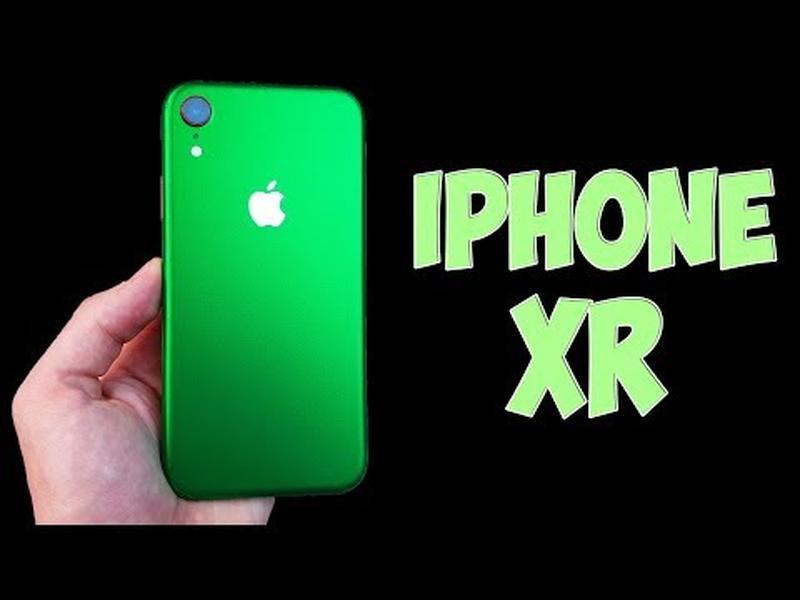 Цветная защитная пленка на iphone xr