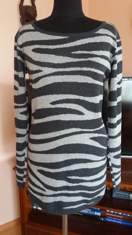Стильный удлиненный свитер-туника с люрексом  xxi(сша),размер ...