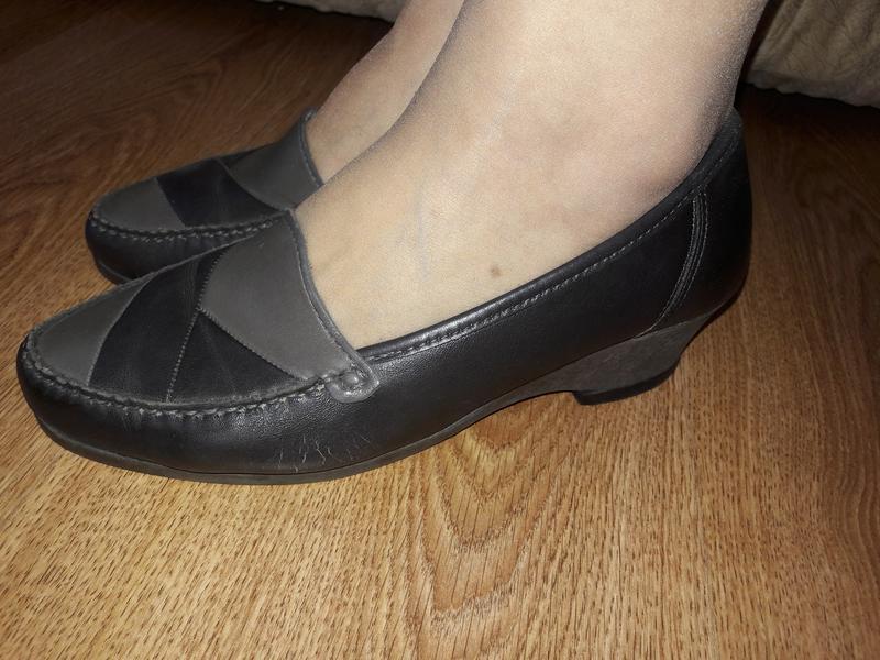 Кожаные туфли р.36 (0037)