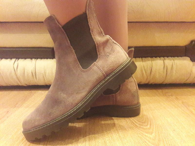 Замшевые ботинки (0334)
