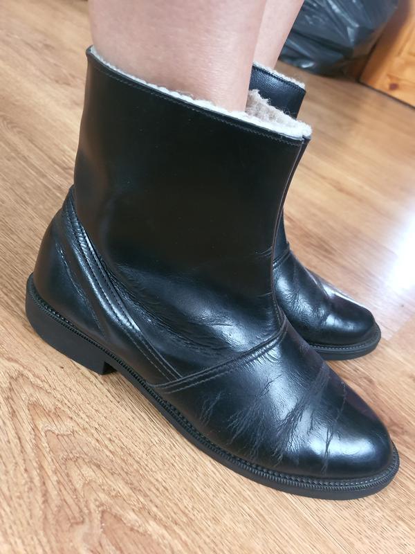 Кожаные зимние ботинки (0392)