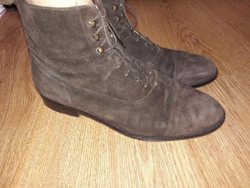 Замшевые ботинки (0100)