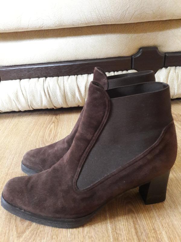 Замшевые ботинки з резиночками (0005)