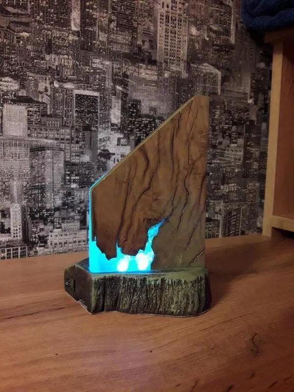 Ночник (светильник) из эпоксидной смолы - Фото 10