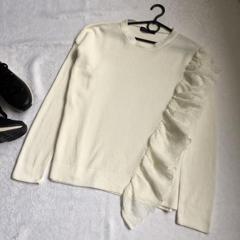 Нарядный свитер с прошвой marks&spenser 14--50-52 размер.