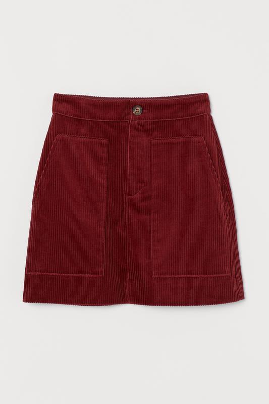 Вельветовая юбка   h&m  коллекция 2019 !!