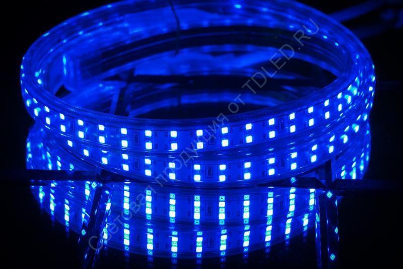 Светодиодная лента SMD 2835 180 ip67 220V Синий
