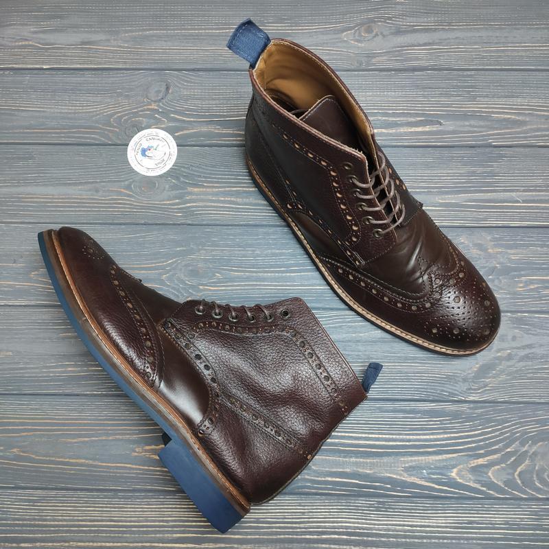 Кожаные ботинки высокие броги nigel hall оригинал!