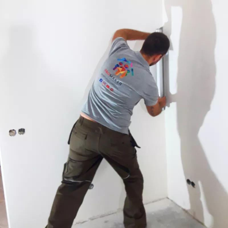 Шпаклевка стен и потолка от 120 грн. м² | Под покраску и обои