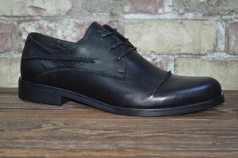 Распродажа,мужские туфли, натуральная кожа, черные, классика