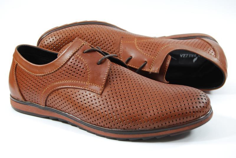 Легкие мужские туфли из натуральной кожи на, распродажа