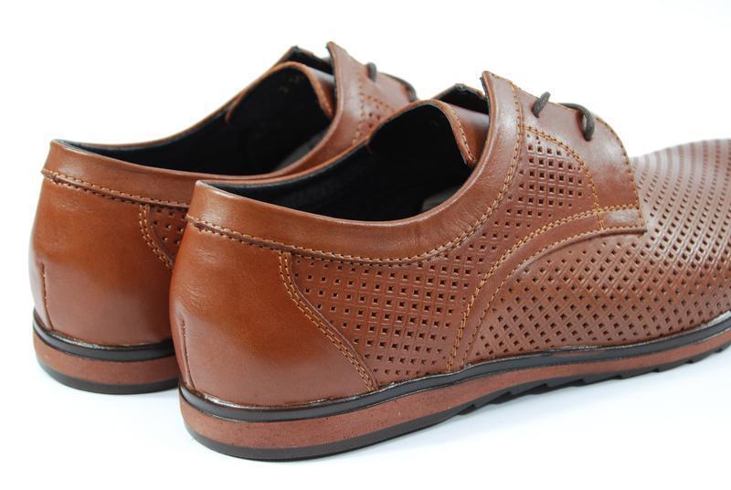 Легкие мужские туфли из натуральной кожи на, распродажа - Фото 2