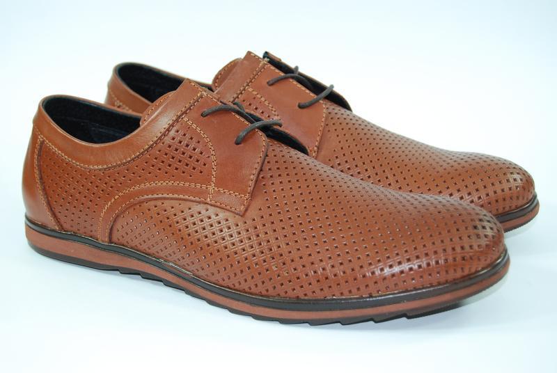 Легкие мужские туфли из натуральной кожи на, распродажа - Фото 3