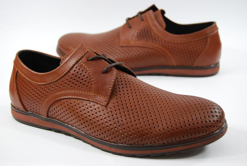 Легкие мужские туфли из натуральной кожи на, распродажа - Фото 4