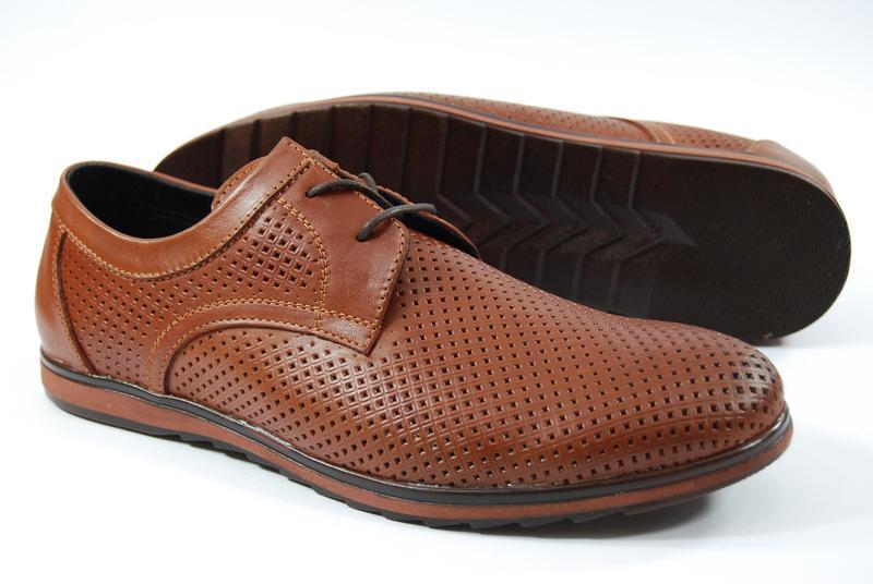 Легкие мужские туфли из натуральной кожи на, распродажа - Фото 5