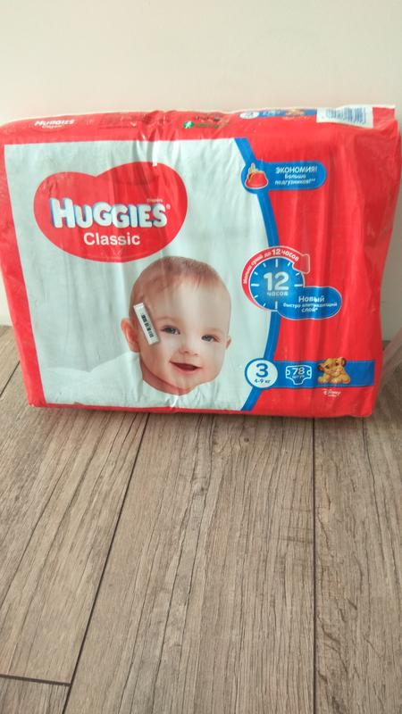 Памперсы Huggies Classic, р.3 (4-9 кг), 78 шт. в упаковке - Фото 3