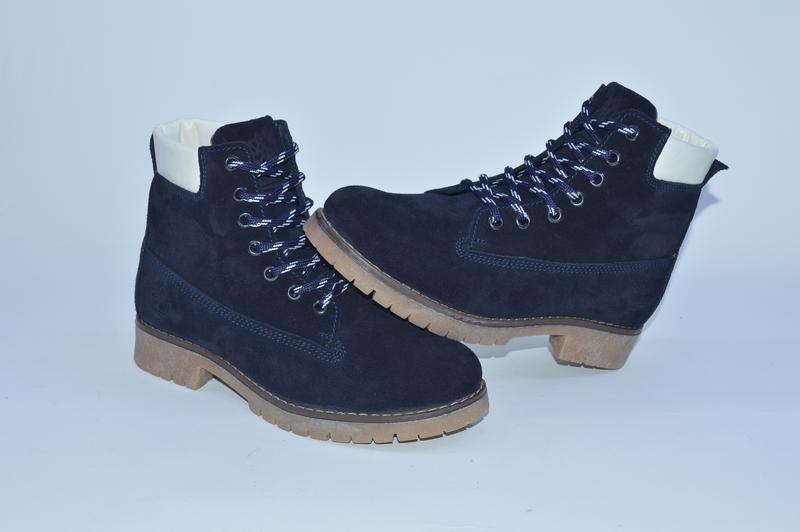 Женские зимние ботинки , замша,мех